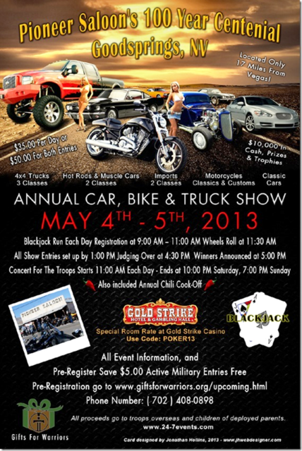 Car Show, Gifts for Warriors Charity