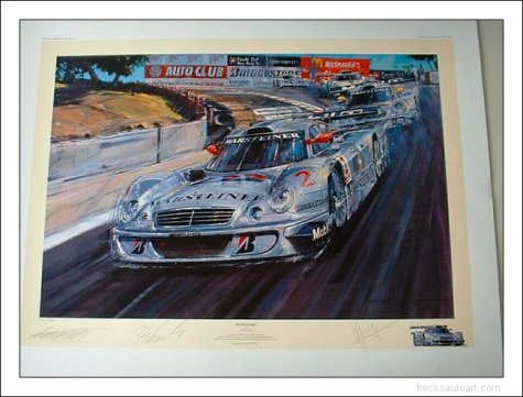 Silver Stars Racing Print, Autographed
