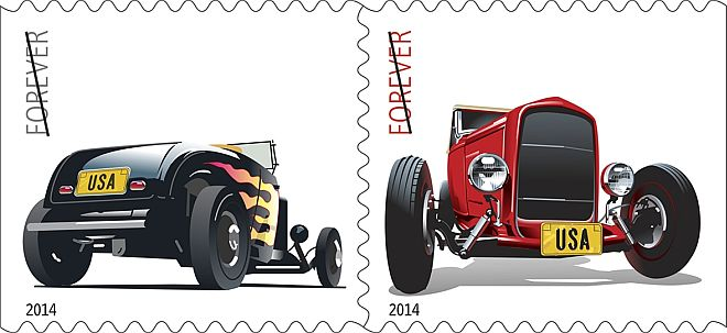 USPS Hot Rod Stamps