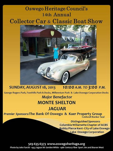 Oswego Heritage Council's Collector Car and Classic Boat Show